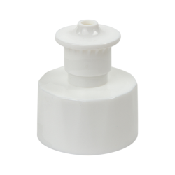 "28/410 White Push-Pull Closure with .135"" Orifice"
