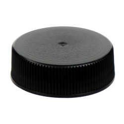 33/400 Black Polypropylene Unlined Ribbed Cap