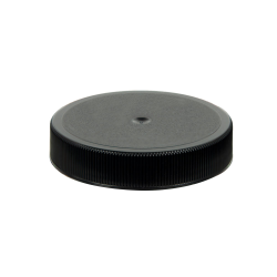 53/400 Black Polypropylene Unlined Ribbed Cap