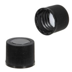 13/415 Black Polypropylene Ribbed Cap with F217 Liner