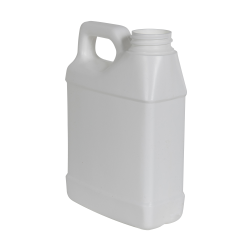 16 oz. White HDPE F-Style Jug with 33/400 Neck (Cap Sold Separately)