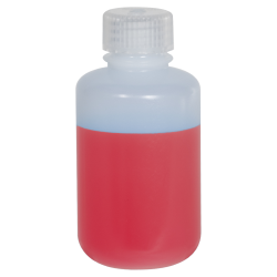 4 oz./125mL Nalgene™ Narrow Mouth Pass-Port IP2 HDPE Shipping Bottle with 24mm Cap