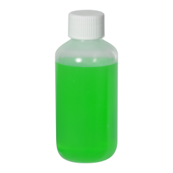 4 oz. LDPE Boston Round Bottle with 24/410 Plain Cap with F217 Liner