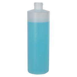 12 oz. Natural HDPE Cylindrical Sample Bottle with 24/410 Neck (Cap Sold Separately)