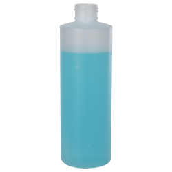 8 oz. Natural Cylinder Bottle with 24/410 Neck (Cap Sold Separately)