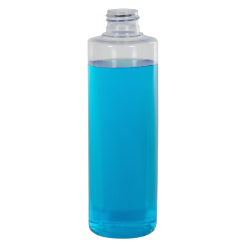 8 oz. Clear PVC Cylindrical Bottle (Cap Sold Separately)