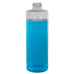 16 oz. Clear PVC Cylindrical Bottle (Cap Sold Separately)