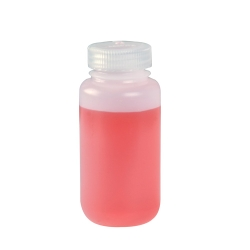 4 oz./125mL Nalgene™ Wide Mouth IP2 HDPE Shipping Bottles with 38mm Caps (Sold by Case)