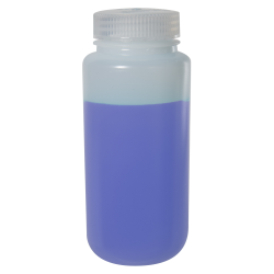 16 oz./500mL Nalgene™ Wide Mouth Pass-Port IP2 HDPE Shipping Bottle with 53mm Cap