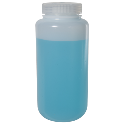32 oz./1000mL Nalgene™ Wide Mouth Pass-Port IP2 HDPE Shipping Bottle with 63mm Cap
