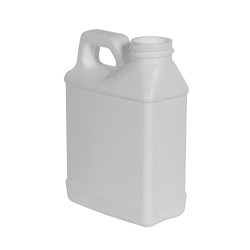 8 oz. White HDPE F-Style Jug with 28/400 Neck (Cap Sold Separately)