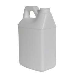 64 oz. White HDPE F-Style Jug with 38/400 Neck (Cap Sold Separately)