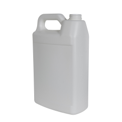 1 Gallon White HDPE F-Style Jug with 38/400 Neck (Cap Sold Separately)