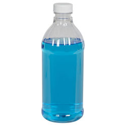 16 oz. PET Clear Round Bottle with 28/400 Cap