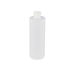 8 oz. White HDPE Cylindrical Sample Bottle with 24/410 Neck (Cap Sold Separately)