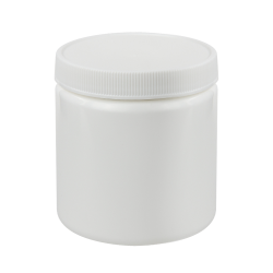 8 oz. White Jar with 70/400 Cap
