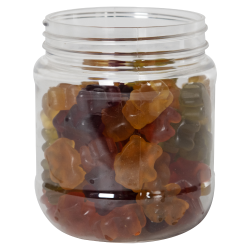 12 oz. Clear PET Jar with 70/400 Neck (Caps Sold Separately)