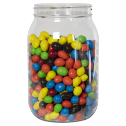 64 oz. Clear PET Jar with 100/400 Neck (Caps Sold Separately)