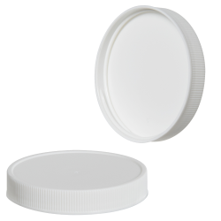 24/410 White Polypropylene Ribbed Cap with F217 Liner