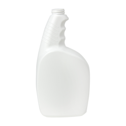 32 oz. White Pistol Grip HDPE Spray Bottle with 28/400 Neck (Sprayer or Cap Sold Separately)