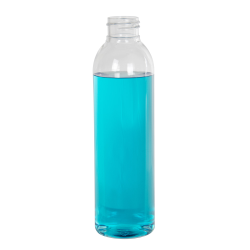 6 oz. Cosmo High Clarity PET Round Bottle with 24/410 Neck (Cap Sold Separately)