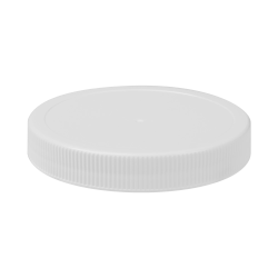 110/400 White Polypropylene Unlined Ribbed Cap