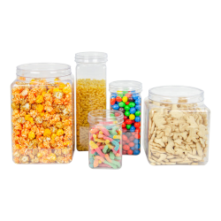 PVC Clear Canisters & Lids