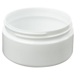 8 oz. White PET Straight Sided Jar with 89/400 Neck (Cap Sold Separately)