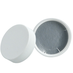 28/410 Polypropylene White Cap with Heat Induction Liner