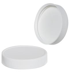 58/400 White Polypropylene Cap with Pressure Sensitive Liner