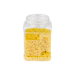 48 oz. Clear PET Pinch Grip-It Jar with 89mm Neck (Cap Sold Separately)