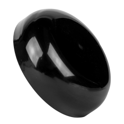 Black Polypropylene Dome Caps