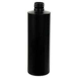 8 oz. Black HDPE Cylindrical Sample Bottle with 24/410 Neck (Cap Sold Separately)