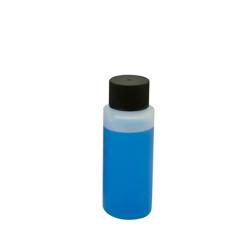 2 oz. HDPE Cylinder Bottle with 24mm Black Cap
