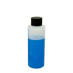 4 oz. HDPE Cylinder Bottle with 24mm Black Cap
