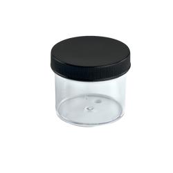 2 oz. Clear Jar with Black 58/400 Cap