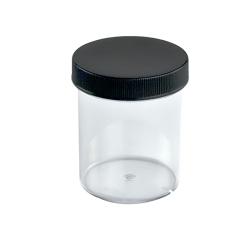 4 oz. Clear Jar with Black 58/400 Cap
