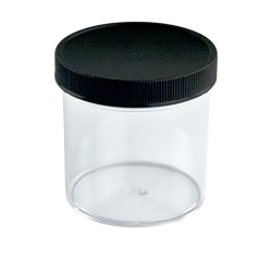 6 oz. Clear Jar with Black 70/400 Cap