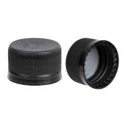 28mm Black Tamper Evident Drop Loc Cap