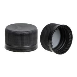 28mm Black Tamper Evident Drop Loc Cap