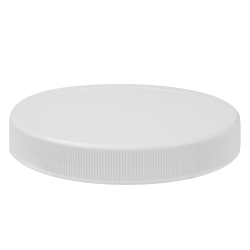 120/400 White Polypropylene Unlined Ribbed Cap