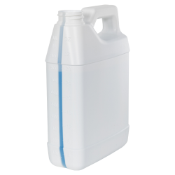 32 oz. White HDPE F-Style Jug with Window Strip with 33/400 Neck (Cap Sold Separately)