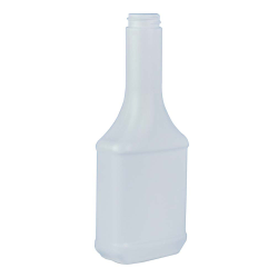 12 oz. Long Neck White HDPE Cone Top Bottle with 28/400 Neck (Cap Sold Separately)