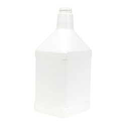 32 oz. Rectangular White HDPE Cone Top Bottle with 28/400 Neck (Cap Sold Separately)