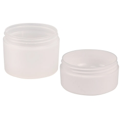 Frosted Polypropylene Straight Sided Double Wall Jars & Caps