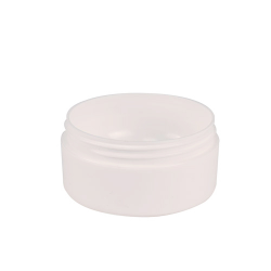 4 oz. White Frosted Double Wall Jar with 89mm Neck (Cap Sold Separately)