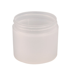 10 oz. White Frosted Double Wall Jar with 89mm Neck (Cap Sold Separately)