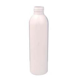 6 oz. White PET Cosmo Round Bottle with 24/410 Neck (Cap Sold Separately)
