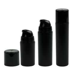 Black Mini Airless Dispensers with Caps