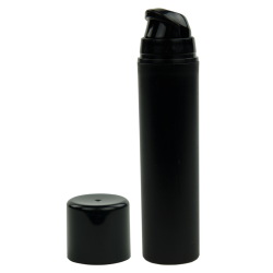 50mL Black Mini Airless Dispenser with Cap